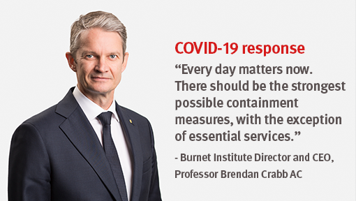 Professor Brendan Crabb Calls For Stronger National Action On Coronavirus